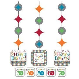 Hanging Cutouts-Customizable Celebrate in Style-3pkg-36""