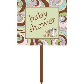 """Lawn Sign-Plastic-Parenthood Baby Shower-1pkg-15"""""""