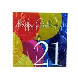 Napkins LN-Photo Real Ballons-21st-18pk-2ply