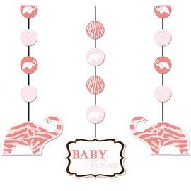 "Hanging Cutouts-Paper-Wild Safari Pink-3pkg-36"""