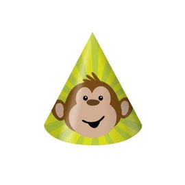 Hats-Cone-Monkeyin Around-8pkg-Paper