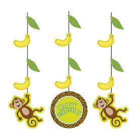 Hanging Cutouts-Monkeyin Around-3pkg-36""