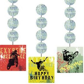 Hanging Cutouts-Xtreme Action Birthday-3pkg-36""