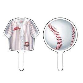 Cupcake Toppers-Baseball Fanatic-12pkg
