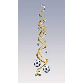 "Danglers-Foil Swirl-Soccer Fanatic-2pkg-36"""