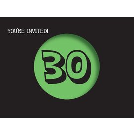 Invitations-Holy Bleep 30th-8pkg