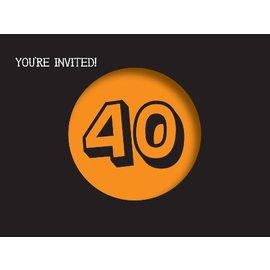 Invitations-Holy Bleep 40th-8pkg