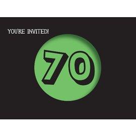 Invitations-Holy Bleep 70th-8pkg