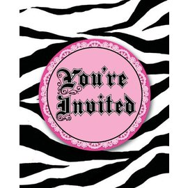 Invitations-Super Stylish Zebra Print-8pkg