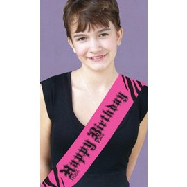 Sash-Satin-Super Stylish Happy Birthday-1pkg