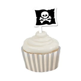 Cupcake Wraps & Toppers-Pirate Party-12pkg