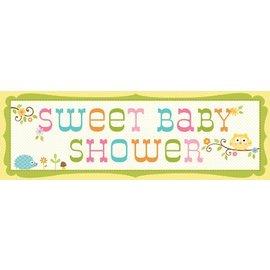 Banner-Happi Tree Baby Shower-60''x20''-Plastic