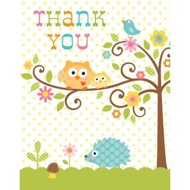 Thank You Cards-Happi Tree-8pkg