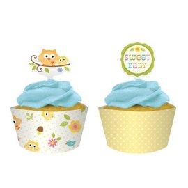 Cupcake Wraps & Toppers-Happi Tree-12pkg