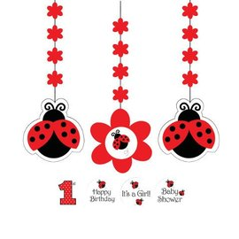 Hanging Cutouts-Customizable-Ladybug Fancy-3pkg-36""
