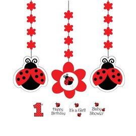 "Hanging Cutouts-Customizable-Ladybug Fancy-3pkg-36"""