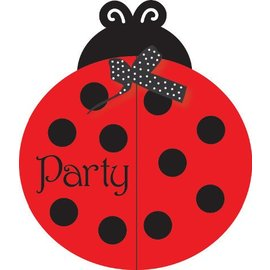 Invitations-Ladybug Fancy-8pkg