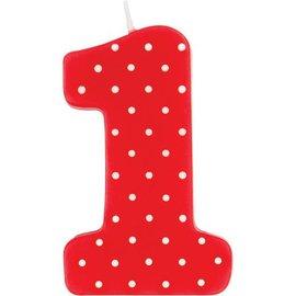 Candle-Ladybug Fancy 1st Birthday-1pkg
