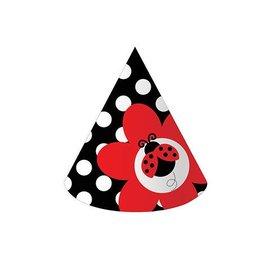 Hats-Cone-Ladybug Fancy-8pkg-Paper