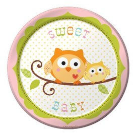 Plates-BEV-Happi Tree Girl-8pkg-Paper - Discontinued