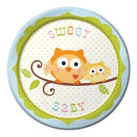 Plates-BEV-Happi Tree Boy-8pkg-Paper - Discontinued