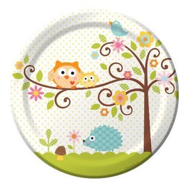Plates-LN-Happi Tree-8pkg-Paper - Discontinued