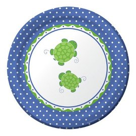 Plates-DN-Mr. Turtle-8pkg-Paper - Discontinued
