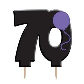 Candle-Holy Bleep 70th Birthday-1pkg