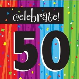 Napkins-LN-Milestone Celebrations 50th-16pk-3ply - Discontinued