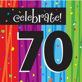 Napkins-LN-Milestone Celebrations 70th-16pkg-3ply - Discontinued