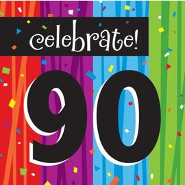 Napkins-LN-Milestone Celebrations 90th-16pkg-3ply - Discontinued