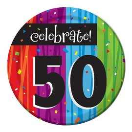 Plates-BEV-Milestone Celebrations 50th-8pkg-Paper