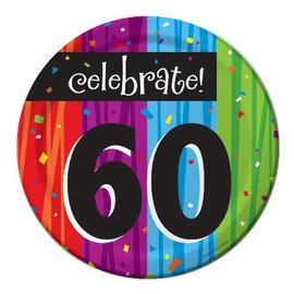 Plates-BEV-Milestone Celebrations 60th-8pkg-Paper - Discontinued