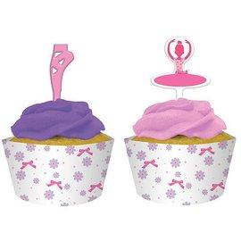 Cupcake Wraps & Toppers-Tutu Much Fun-12pkg
