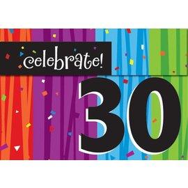 Invitations-Milestone Celebrations 30th-8pkg