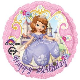 Foil Balloon - Happy Birthday - Sofia the First- 18""