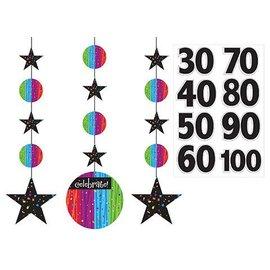 "Hanging Cutouts-Customizable-Milestone Celebrations-3pkg-36"""
