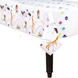 Table Cover-Party Pups-Plastic-54'' x 96'' - Discontinued