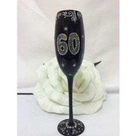 Champagne Glass-60th Birthday-1pkg-9.5''