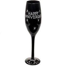 "Champagne Glass-Happy Anniversary-1pkg-9.5"""