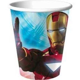 Cups-Iron Man-Paper-8pkg-9oz