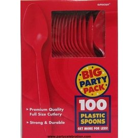 Spoons-Premium-Apple Red-Box/100pkg-Plastic
