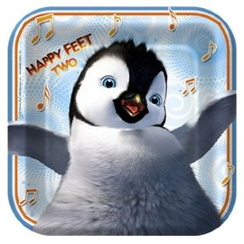 Plates-BEV-Happy Feet-8pk-Paper (Discontinued)