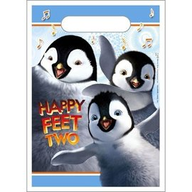 Loot Bags- Happy Feet-8pk (Discontinued)