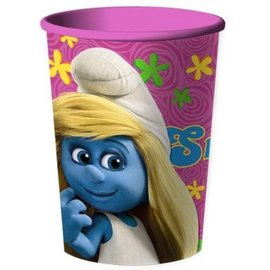 Plastic Cup-Smurfs-1pkg-16oz