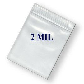 Ziplock Bag-Clear-Plastic-6''x8''-2mil-100pk