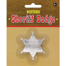 Badge-Sheriff/Silver -Western-1.75''