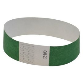 Wristbands-Green-Paper-100pk