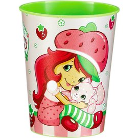 Cups-StrawBerry-Plastic-16oz - Discontinued
