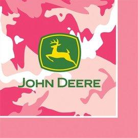 Napkins-LN-Pink John Deere-16pkg-3ply - Final Sale
